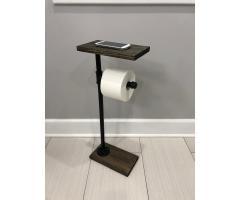 Держатель туалетной бумаги с полочкой